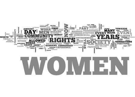WOMENS RIGHTS TEXT WORD CLOUD CONCEPT