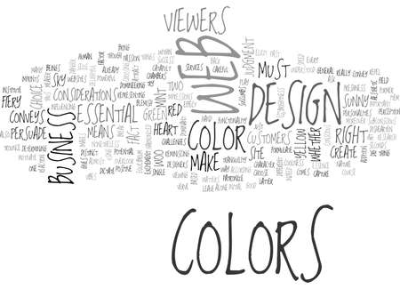 WOO YOUR VIEWERS THROUGH COLORS TEXT WORD CLOUD CONCEPT