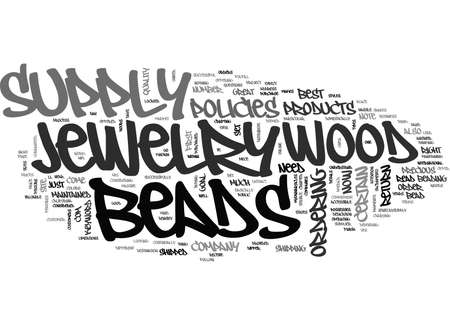 WOOD BEADS JEWELRY SUPPLY TEXT WORD CLOUD CONCEPT