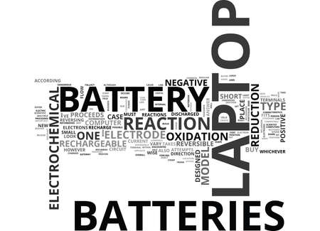 electrochemical: WHICH LAPTOP BATTERY IS RIGHT FOR YOU TEXT WORD CLOUD CONCEPT
