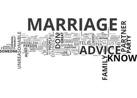 anyone: WHICH MARRIAGE ADVICE SHOULD YOU LISTEN TO TEXT WORD CLOUD CONCEPT