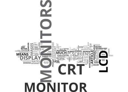 WHICH MONITOR SHOULD YOU BUY TEXT WORD CLOUD CONCEPT