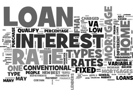 qualify: WHICH MORTGAGE LOAN TYPE FOR YOU TEXT WORD CLOUD CONCEPT