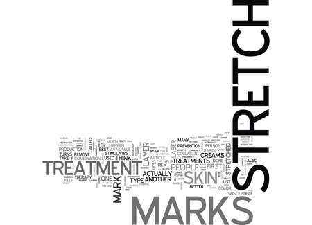 WHICH STRETCH MARK TREATMENT IS THE BEST FOR YOU TEXT WORD CLOUD CONCEPT