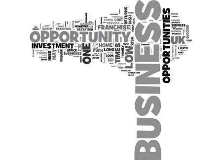 WHICH UK BUSINESS OPPORTUNITY SHOULD I SIGN UP TO TEXT WORD CLOUD CONCEPT Illustration