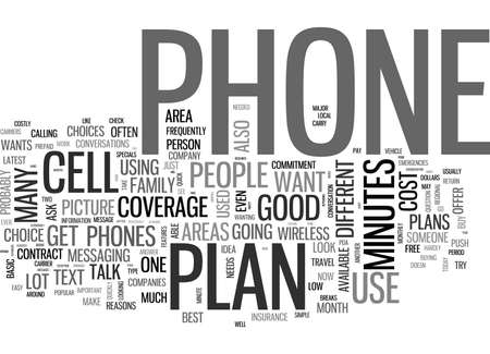 WHICH WIRELESS PLAN AND PHONE SHOULD I BUY TEXT WORD CLOUD CONCEPT Vectores