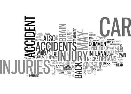 WHIP IT GOOD CAR ACCIDENTS AND YOUR SPINE TEXT WORD CLOUD CONCEPT