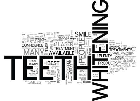 WHITE TEETH FOR A WARM SUMMER TEXT WORD CLOUD CONCEPT Illustration