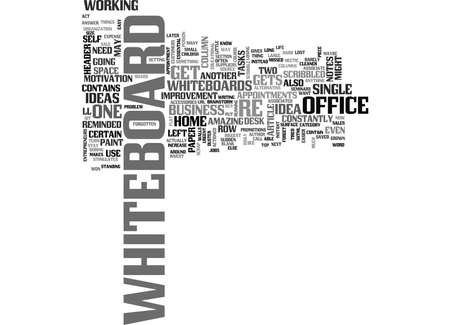 converts: WHITEBOARDS CAN INCREASE YOUR DAILY PRODUCTIVITY TEXT WORD CLOUD CONCEPT Illustration