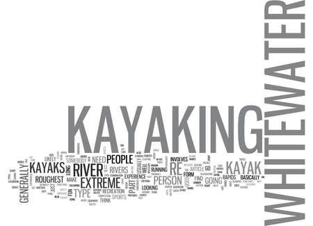 matter: WHITEWATER KAYAKS TEXT WORD CLOUD CONCEPT