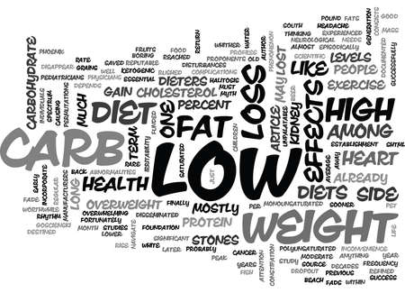 adverse: WHITHER LOW CARB TEXT WORD CLOUD CONCEPT Illustration