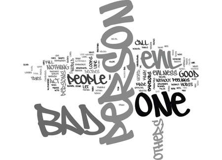 WHO IS EVIL TEXT WORD CLOUD CONCEPT Illustration
