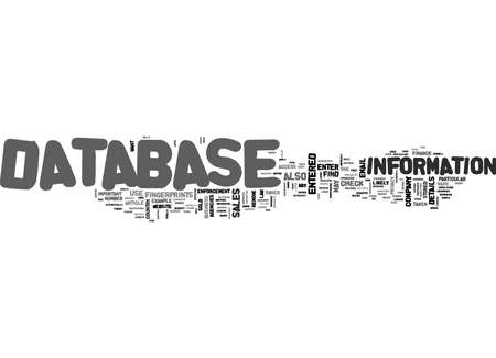 WHO S DATABASE ARE YOU IN TEXT WORD CLOUD CONCEPT