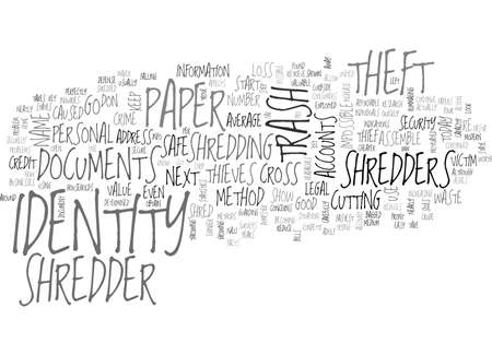 WHY A PAPER SHREDDER KEEPS YOU SAFE FROM IDENTITY THEFT TEXT WORD CLOUD CONCEPT