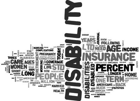 WHY DISABILITY INSURANCE IS SO IMPORTANT TEXT WORD CLOUD CONCEPT