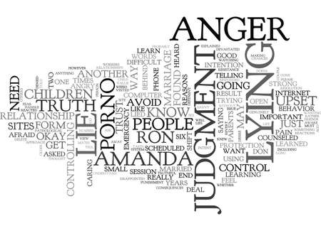 WHY DO PEOPLE LIE TEXT WORD CLOUD CONCEPT Ilustração