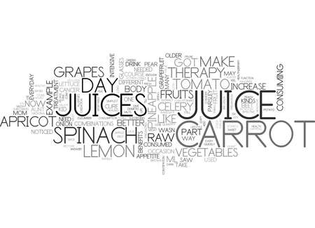 colds: WHY DO YOU NEED RAW JUICE THERAPY TEXT WORD CLOUD CONCEPT Illustration