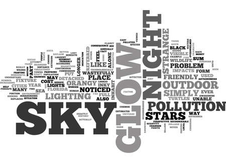 WHY DOES THE SKY GLOW AT NIGHT TEXT WORD CLOUD CONCEPT Illustration