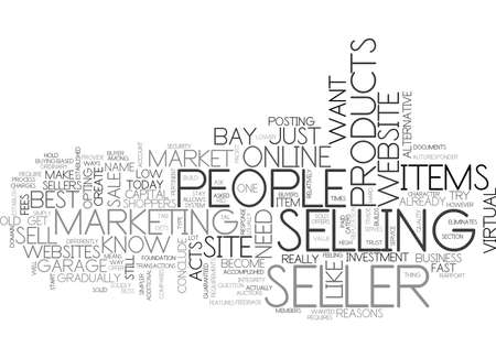 WHY E BAY IS A SELLER S BLISS TEXT WORD CLOUD CONCEPT Illusztráció