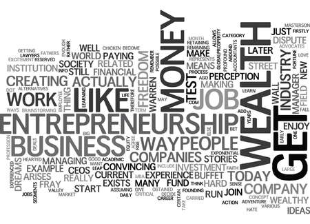 WHY ENTREPRENEURSHIP IS THE WAY TO WEALTH TEXT WORD CLOUD CONCEPT