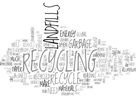 WHY EVERYONE SHOULD RECYCLE TEXT WORD CLOUD CONCEPT