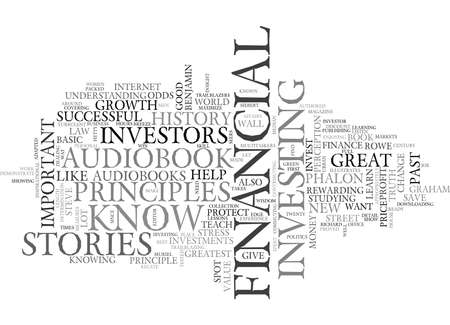 WHY FINANCIAL INVESTORS SHOULD KNOW THEIR HISTORY TEXT WORD CLOUD CONCEPT