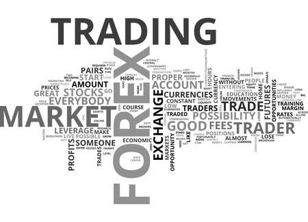 WHY FOREX TEXT WORD CLOUD CONCEPT