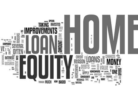 pourquoi obtenir une maison équité prêt mot de texte concept Vecteurs