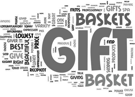 WHY GIFT GIFT BASKET TEXT WORD CLOUD CONCEPT Ilustrace