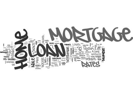 WHY GO FOR A HOME MORTGAGE LOAN TEXT WORD CLOUD CONCEPT Иллюстрация