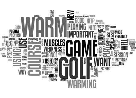 WHY GOLFERS NEED TO WARM UP TEXT WORD CLOUD CONCEPT