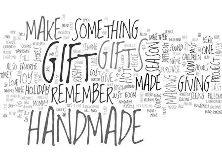 retrospect: WHY HANDMADE REASONS WHY HANDMADE IS THE HOT GIFT TEXT WORD CLOUD CONCEPT