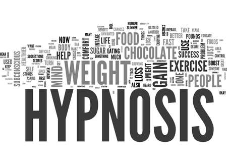 WHY HYPNOSIS WORKS FOR WEIGHT LOSS TEXT WORD CLOUD CONCEPT