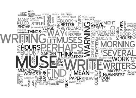 WHY I KILLED MY MUSE  AND YOU SHOULD TOO TEXT WORD CLOUD CONCEPT Vectores