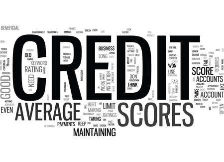 Z AVERAGE CREDIT SCORES TEXT WORD CLOUD CONCEPT Illustration