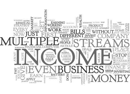 WHY I LOVE MULTIPLE STREAMS OF INCOME TEXT WORD CLOUD CONCEPT