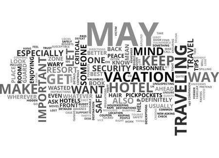 YOUR TRAVEL SAFETY GUIDE TEXT WORD CLOUD CONCEPT