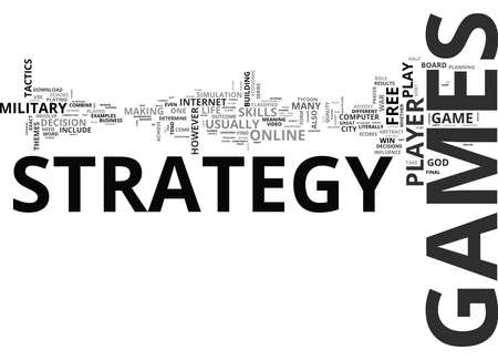 WHY I LOVE STRATEGY GAMES TEXT WORD CLOUD CONCEPT