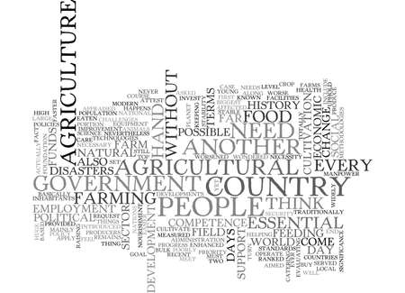 WHY IS AGRICULTURE ESSENTIAL TEXT WORD CLOUD CONCEPT