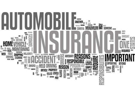 WHY IS AUTO INSURANCE IMPORTANT TEXT WORD CLOUD CONCEPT Illustration