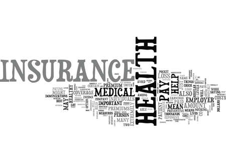 WHY IS HEALTH INSURANCE IMPORTANT TEXT WORD CLOUD CONCEPT Çizim