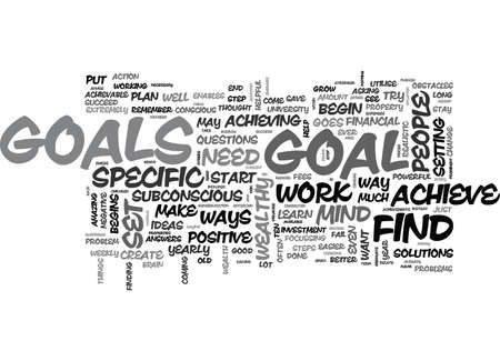 WHY IS IT IMPORTANT TO SET GOALS TEXT WORD CLOUD CONCEPT