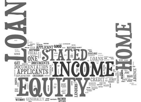 Z STATED INCOME HOME EQUITY LOAN TEXT WORD CLOUD CONCEPT