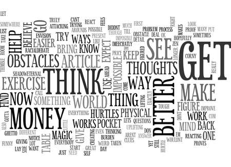 ZEN IN A THIMBLE TEXT WORD CLOUD CONCEPT