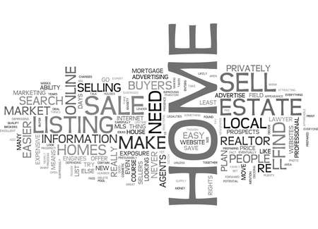 WHY IT S NEVER BEEN EASIER TO SELL YOUR OWN HOME TEXT WORD CLOUD CONCEPT