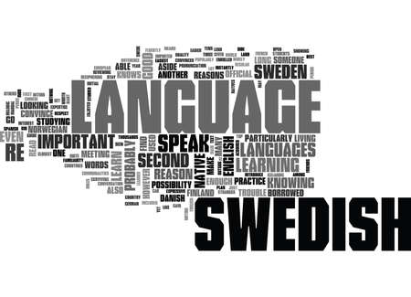 WHY LEARN SWEDISH TEXT WORD CLOUD CONCEPT
