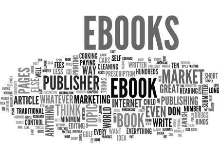 WHY MARKET EBOOKS TEXT WORD CLOUD CONCEPT