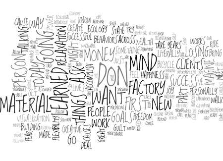 WHY MATERIAL SUCCESS GOES BEYOND MONEY CARS AND A BIG HOME TEXT WORD CLOUD CONCEPT