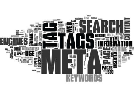 WHY META TAGS USED TEXT WORD CLOUD CONCEPT