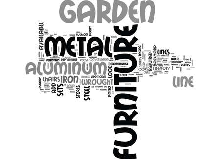 WHY METAL GARDEN FURNITURE TEXT WORD CLOUD CONCEPT